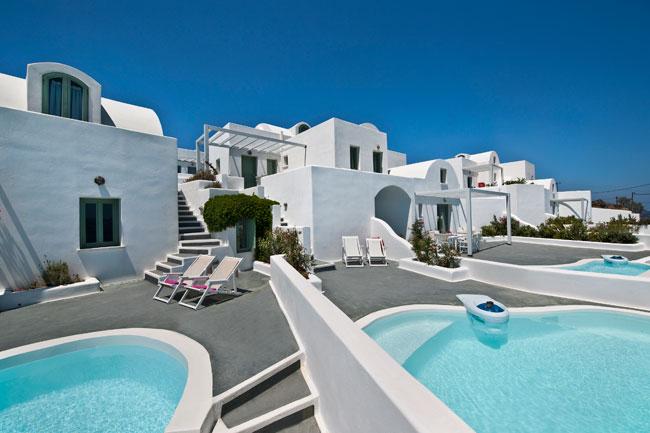 Aura marina santorini appartements luxe akrotiri santorin for Hotel santorin piscine privee