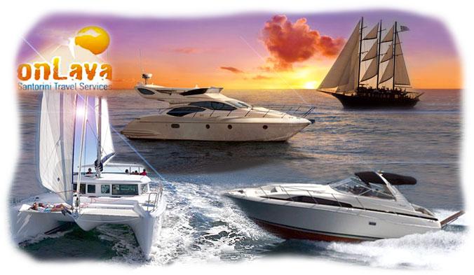santorin en voilier location bateaux catamarans santorin. Black Bedroom Furniture Sets. Home Design Ideas